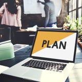 Merk Marketing het Concept van het PlanOpstarten van bedrijven stock afbeeldingen