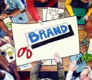 Merk Reclamehandel Copyright die Concept op de markt brengen royalty-vrije stock afbeelding
