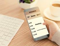 Merk uw smartphoneprogramma royalty-vrije stock foto's