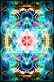 Merkaba on abstract color background. Sacred geometry. Merkaba on abstract color background. Sacred geometry Royalty Free Stock Images
