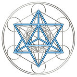 Merkaba - Metatrons cube royalty free illustration