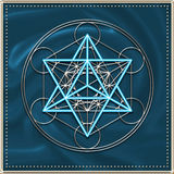 Merkaba - Metatrons cube stock illustration