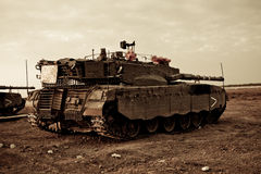 Merkava Mk 4 Baz Main Battle Tank Stock Photo
