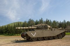 Merkava tank at the Golan Heights Royalty Free Stock Photography