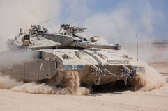 Merkava Tank of the Israeli Defence Force. Coming from the Gaza. Picture was taken August 2008 Royalty Free Stock Photos