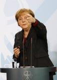 merkel för angela chancelortysk Arkivfoto