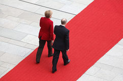 Merkel Putin Royalty Free Stock Photo