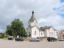 Merkine grodzki muzeum, Lithuania Obrazy Royalty Free