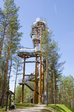 Merkine observation tower, Lithuania Royalty Free Stock Photography