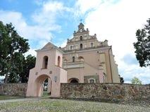 Merkine town church, Lithuania Stock Photos