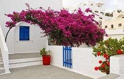 Merkmale Santorini Stockfotografie