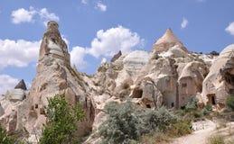 Merkwürdig abgefressene Felsen, rote Rose Valley, Cappadoci Lizenzfreies Stockfoto