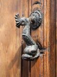 Merkwürdige Verzierung auf einer Tür lizenzfreies stockbild