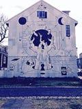Merkwürdige Wandkunst Stockfotos