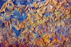 Merkwürdiger abstrakter Hintergrund mit Papier, Aquarell und Salz Lizenzfreies Stockfoto