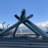 Merkwürdiges Gebäude, Vancouver, Kanada lizenzfreies stockfoto