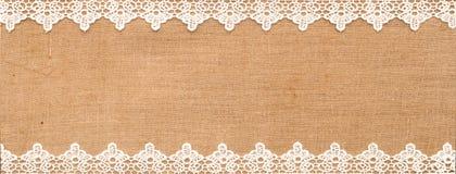Merletto bianco Fotografia Stock