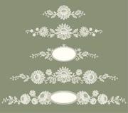 Merletto bianco Albero del fiore della clip art Immagini Stock Libere da Diritti