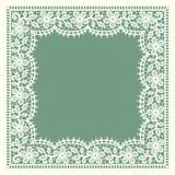 Merletto bianco Pagina Reticolo floreale Fotografia Stock Libera da Diritti