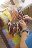 Merletto-fabbricazione della bobina Immagine Stock