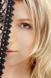 Merletto nero Fotografia Stock Libera da Diritti