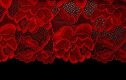 Merletto rosso Fotografie Stock