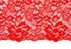 Merletto rosso decorativo Fotografia Stock Libera da Diritti