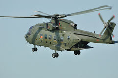Merlin Helicopter. Landing on an airfield stock image