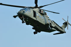 Merlin Helicopter. Landing on an airfield royalty free stock photos