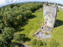 Merlin kasztelu ruiny w Merlin parku zdjęcie royalty free