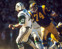 Merlin Olsen, Los Angeles Rams Royalty Free Stock Images