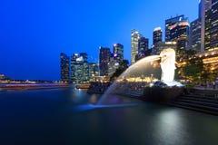 MERLIN-Park Jachthafenbucht Singapur Stockfotografie