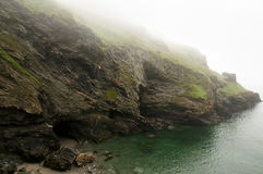 Merlin`s Cave - Tintagel - England. Merlin`s Cave in Tintagel - England Stock Photography