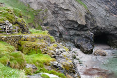 Merlin`s Cave - Tintagel - England. Merlin`s Cave in Tintagel - England Stock Images