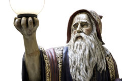Merlin statue spell medieval druid Royalty Free Stock Image