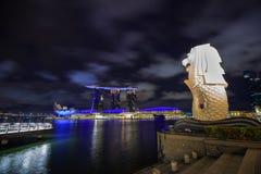 Merlion公园在新加坡市 免版税库存图片