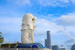 Merlion公园在新加坡 免版税库存图片