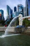Merlion公园在新加坡 免版税库存照片