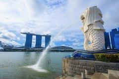 Merlion公园在新加坡 库存照片
