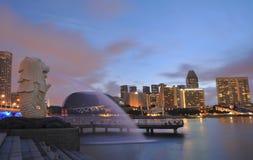 merlion公园新加坡 免版税库存照片
