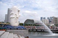 Merlion公园,新加坡 免版税图库摄影