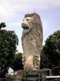 Merlion在圣淘沙,新加坡 免版税图库摄影