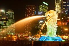 merlion新加坡 图库摄影