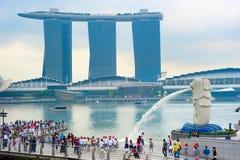 Merlion,新加坡 库存图片