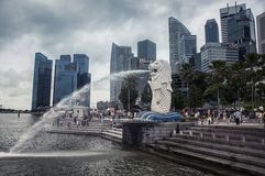 Merlion à Singapour Images stock