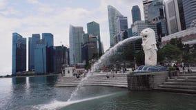 Merlion à Singapour banque de vidéos