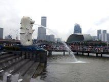 Merlion é o símbolo de Singapura Imagem de Stock Royalty Free