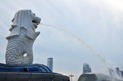 merlion Σινγκαπούρη πηγών στοκ εικόνα