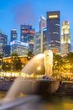 merlion Σινγκαπούρη Στοκ Εικόνες