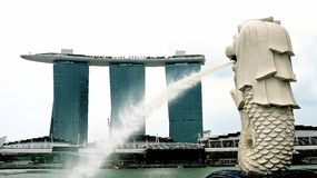merlion Σινγκαπούρη Στοκ φωτογραφίες με δικαίωμα ελεύθερης χρήσης